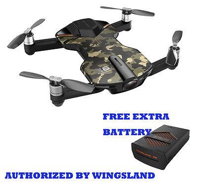 Wingsland S6 V2 Smart Pocket FPV Drone with Extra Battery 4K HD Camera Camo