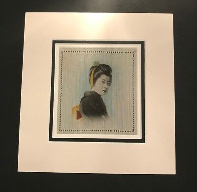 Hand Painted Silk Handkerchief Triple Mounted and framed #4