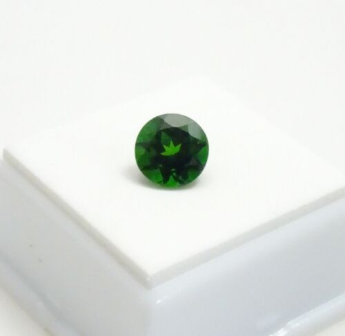 3.0ct+ Russian Chrome Diopside - 9mm Round - Chrome Diopside Loose Gemstone