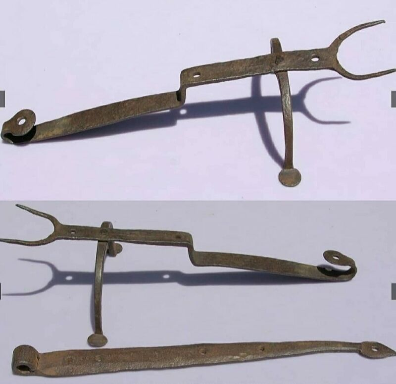 18th Century WROUGHT-IRON MAKE-DO HEARTH FORK