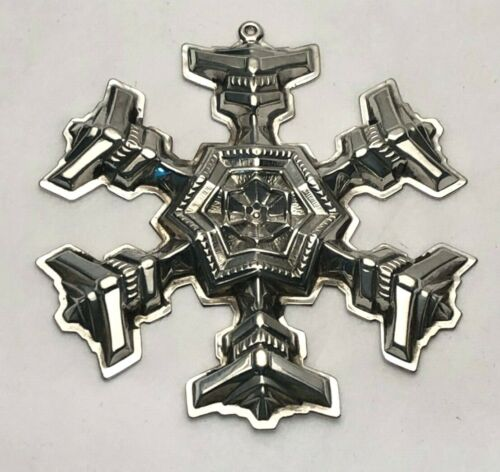 Gorham Sterling Silver 1977 Annual Snowflake Ornament, no box