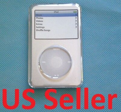 - NEW Clear plastic case for Apple ipod Classic 160GB 120GB w/ Screen Protector