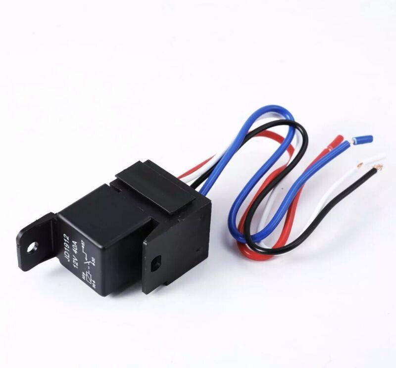 Car Auto DC 12V Volt 30/40A Automotive 4 Pin 4 Wire Relay&Socket 30amp/40amp *US
