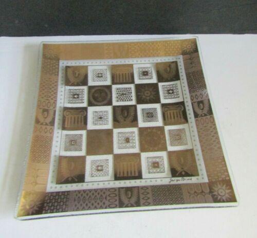 "Vtg Georges Briard Sun Burst Gold Gilt Serving Platter 9 3/4"""