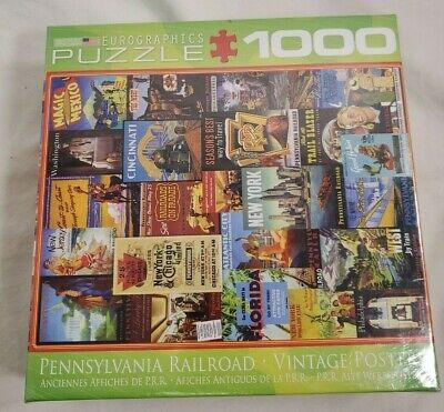 Pennsylvania Railroad Vintage Posters - Eurographics 1000 Piece Jigsaw Puzzle