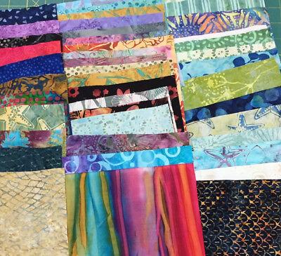 100 - 6+ Inch Batik Squares 100% Cotton