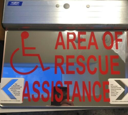 Cornell Communications SN-B48DS Rescue Assistance Sign