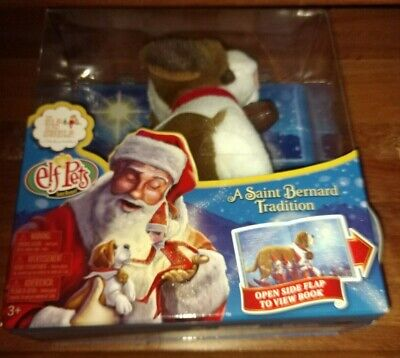 Christmas The Elf On The Shelf Elf Pets Saint Bernard Dog Plush and Storybook