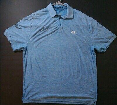 Under Armour Heatgear Mens Golf Polo Shirt Sports Outdoor Apparel Blue Size XL