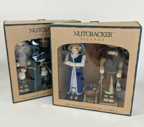 Vintage Nutcracker Village Old World Traditions Lot : 3 Wise Men & Holy Family