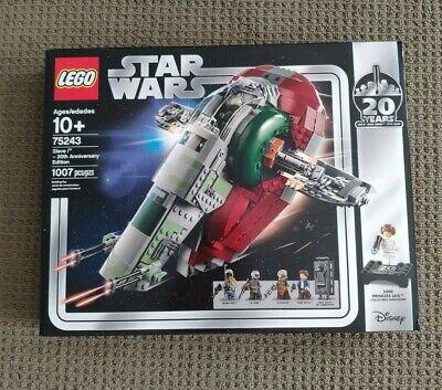 Brand New Sealed LEGO Star Wars Slave I - 20th Anniversary Edition Set (75243)