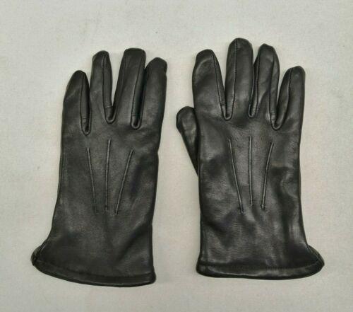 Ex Police Gloves Black Leather Cut & Heat Resistant Safety Uniform Patrol Duty