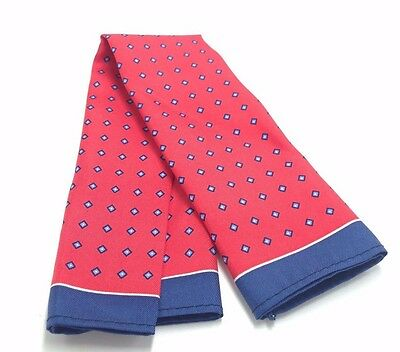 $125 TOMMY HILFIGER Mens BLUE RED CHECK HANDKERCHIEF DRESS CASUAL POCKET SQUARE