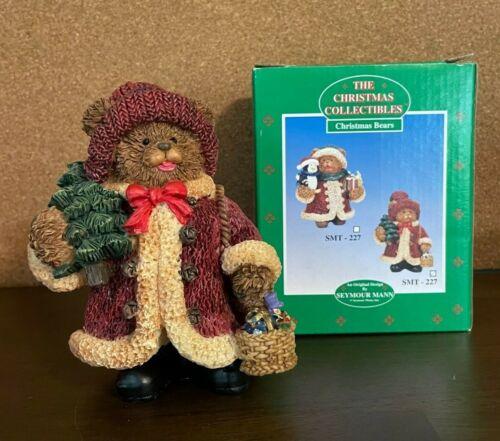 Vtg Seymour Mann Christmas Collectibles Christmas Bear Figurine w/ Box