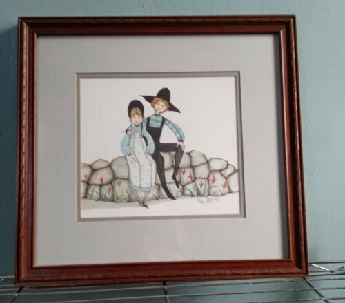 P. Buckley Moss Framed Print Happy Together Signed/Dated 1987 955 1000 Rare - $169.99