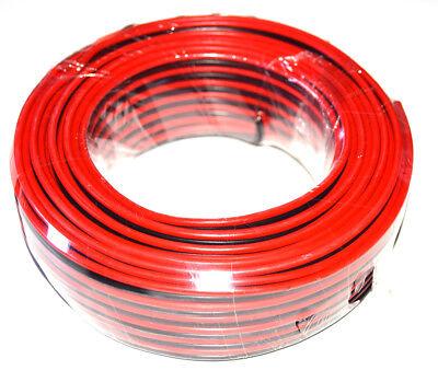 Cable altavoz rojo negro CCA 2x1.5mm rollo 25m.