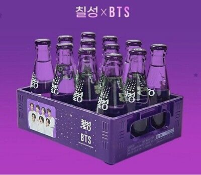 BTS x Chilsung Cider Purple photo Box Official Goods Limited Only Box + Tracking