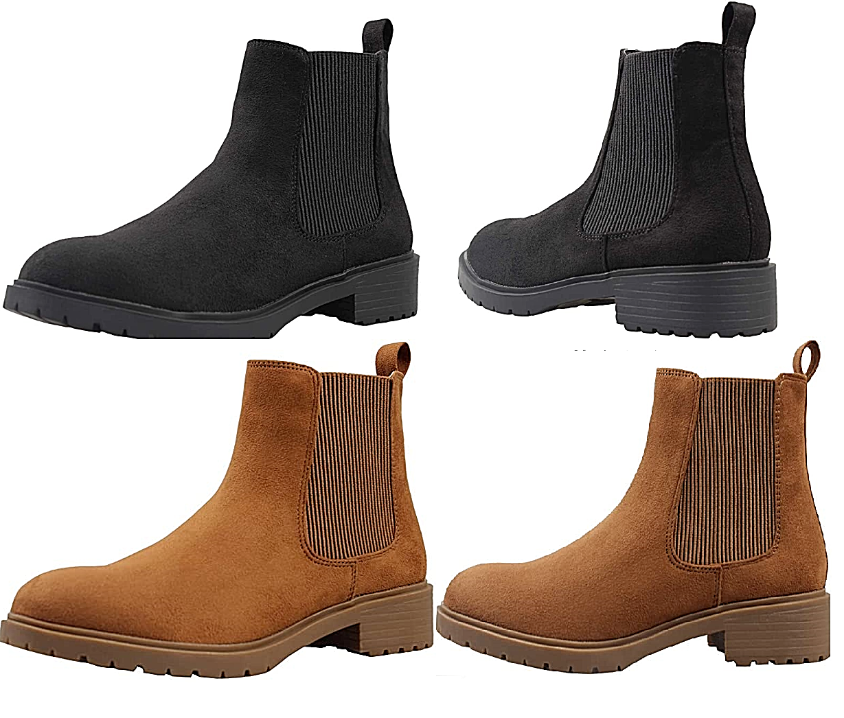 Suede Chelsea Women Boots Hight Quality Elasticated side Stylish Non Slippery Boots