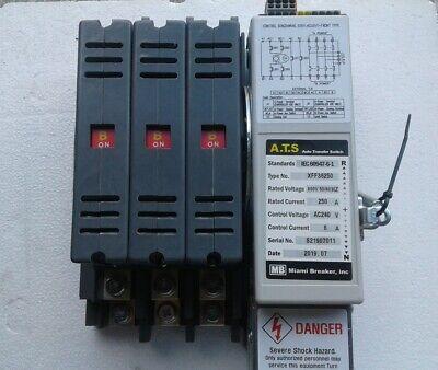 Xff36250mv Miami Breaker Auto Transfer Switch 250a 600v 5060hz Ac240v New