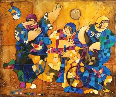 Israeli Art - Dorit Levi Original Oil on Linen + Free serigraph on paper
