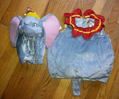 Disney Store Dumbo Plush 2 Piece Costume Baby 6-12 Months Halloween - Baby Elephant Costume