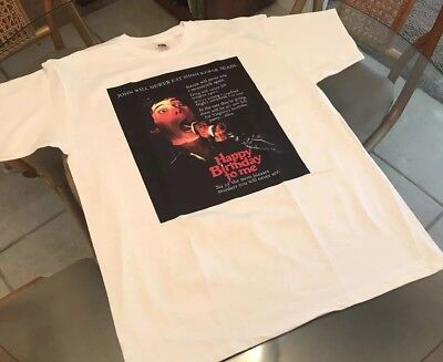 Happy Birthday To Me Large T-Shirt! See) Friday The 13Th & Halloween