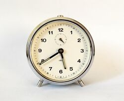 Vintage 1960s Alarm clock PRIM Czechoslovakia Retro Old Desk table watch decor