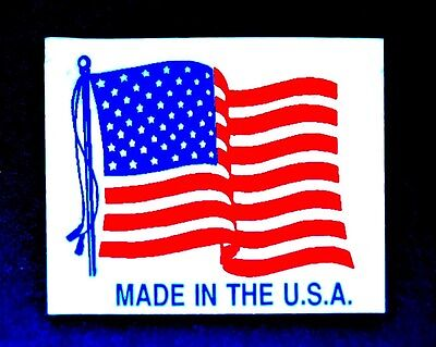 100 Top Quality 1 14 X 1 Made In The Usa Flag Labels Stickers Monarch 1130 2