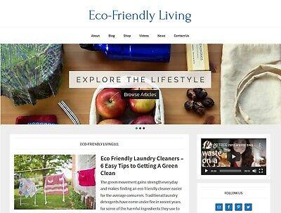 New Design Eco-friendly Living Website Affiliate Product Blog Auto Posts