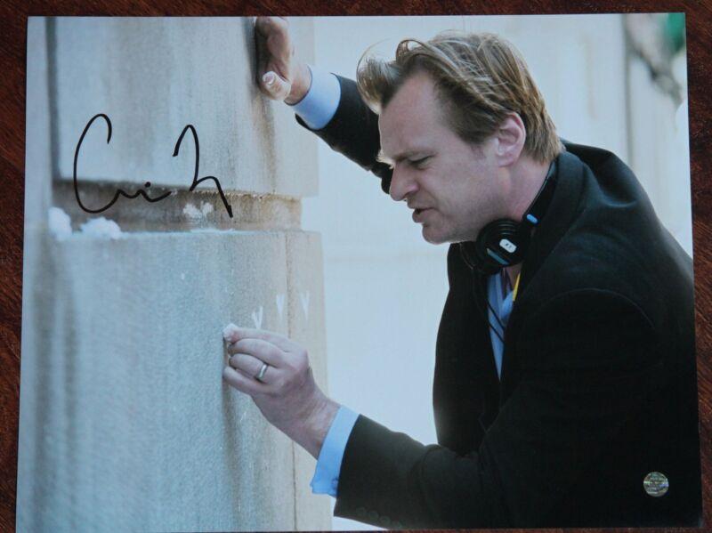 GFA Dark Knight Rises Director * CHRISTOPHER NOLAN * Signed 11x14 Photo MH3 COA