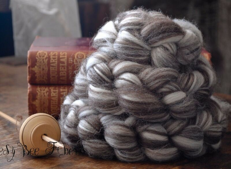CORRIEDALE Natural Wool Roving Combed Top Spinning or Felting Fiber  4 oz