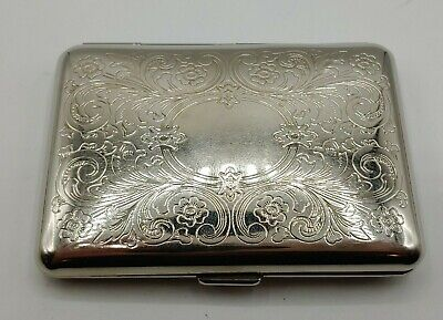Silver Stainless Steel Metal Business Card Holder 3.75 X 2.75