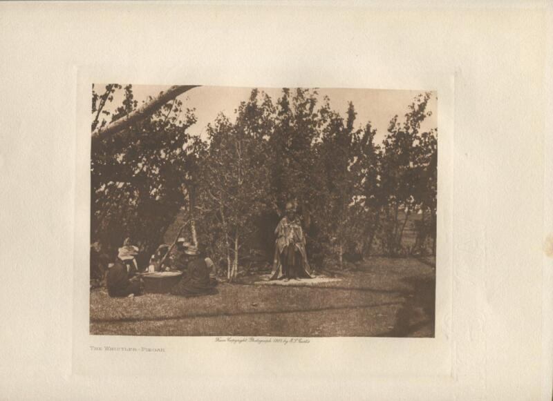 1905 Original Photogravure | Edward Curtis | The Whistller | John Andrews & Son