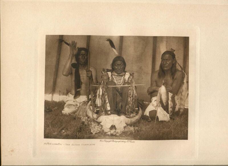 1907 Original Photogravure | The Altar Complete  | Edward Curtis | 5 1/2 x 7 1/2