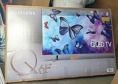 "Samsung Flat 55"" QLED 4K (2160p) UHD 6 Series Smart TV Blu Tooth Google LED NEW!"