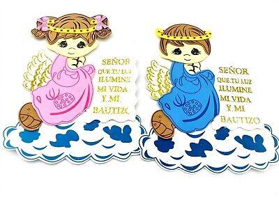 """8""""10Bautizo Party Table Decorations Foam Centerpiece Favors Supplies Boy Baptism - Baptism Centerpieces Boy"""