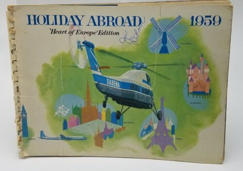 SABENA Holiday Abroad Heart of Europe Edition Travel guide vintage 1959 Belgium