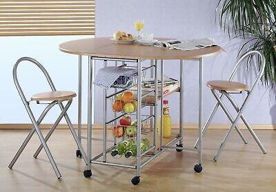 Küchenbar klappbar mit 2 Stühlen Küche Küchentisch
