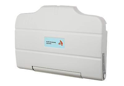 - Baby Changing Table Station Horizontal Wall Mounted Fold Down- White (a)