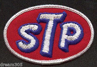 "Vintage STP OIL Motorcycle Drag Car Racing - Hot Rod Patch! 3"" Flattrack Race"