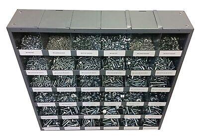 2540 Piece Metric Class 8.8 Nut Bolt Washer Assortment With Metal Storage Bin