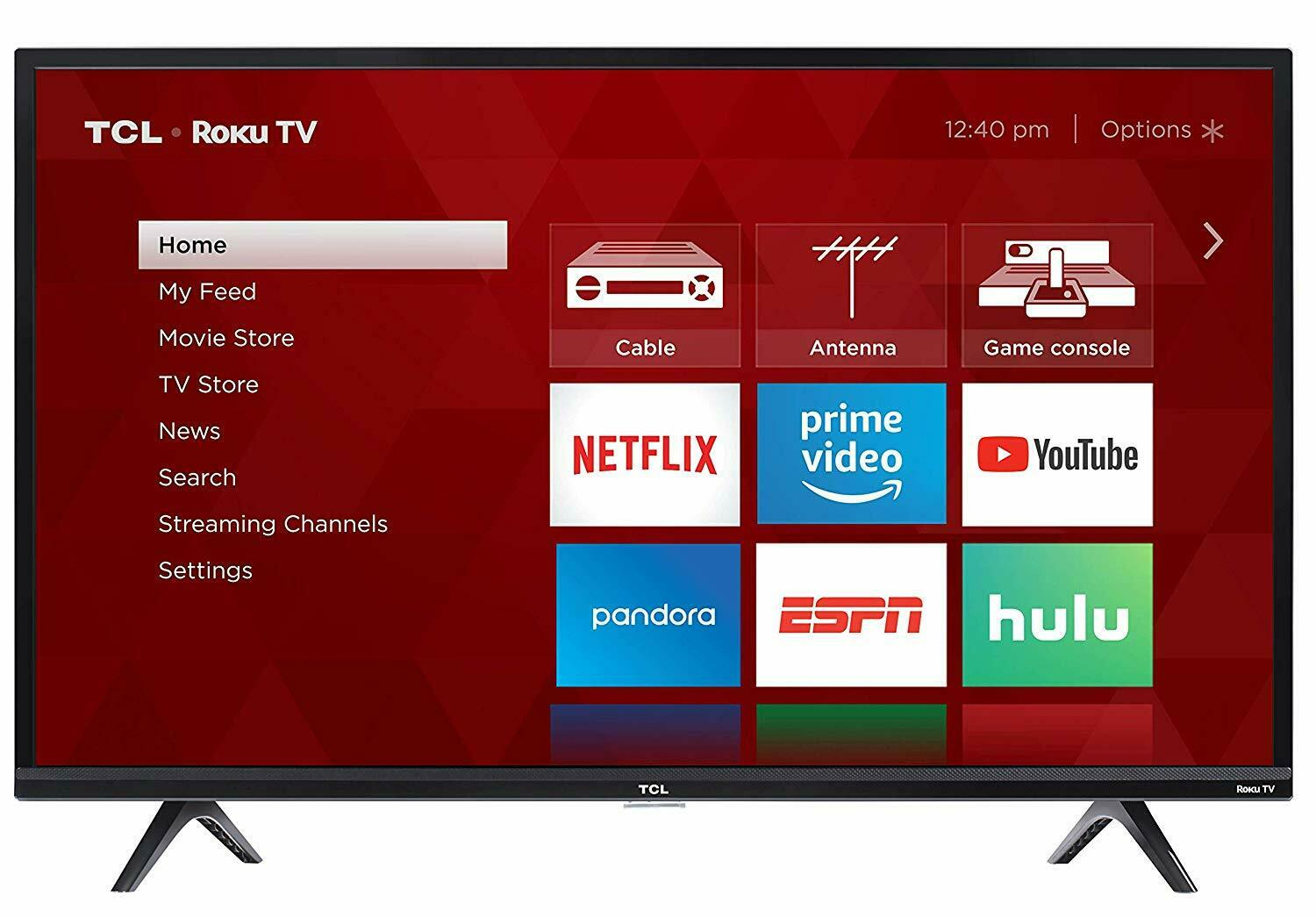 TCL 32-Inch 720p 60Hz Roku Smart LED HDTV with 3 x HDMI *32S