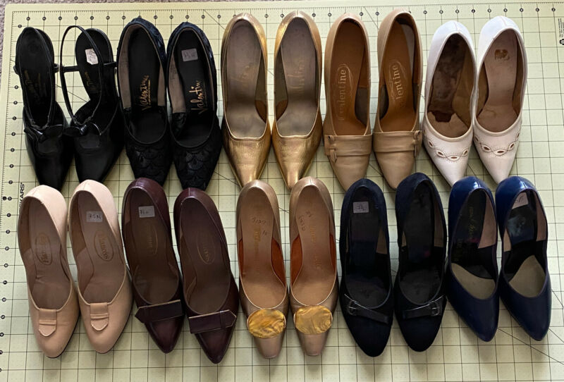 Lot Of 10 Pairs Of Vintage High Heels - 1950's / 1960's - Thrift, Resell