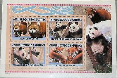 GUINEA 2001 BLOCK 678 PANDAS PANDA BEARS B REN FAUNA TIERE ANIMALS NATURE MNH