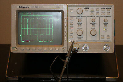 Tektronix Tds 320 2 Channel Digital Oscilloscope 100 Mhz 500 Mss W 1 Probe