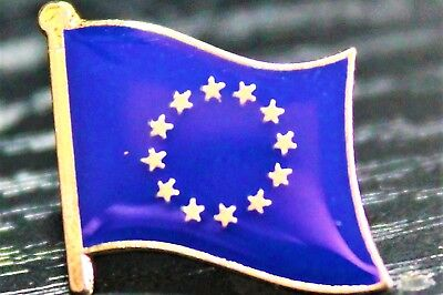EU European Union Metal Flag Lapel Pin Badge *NEW*
