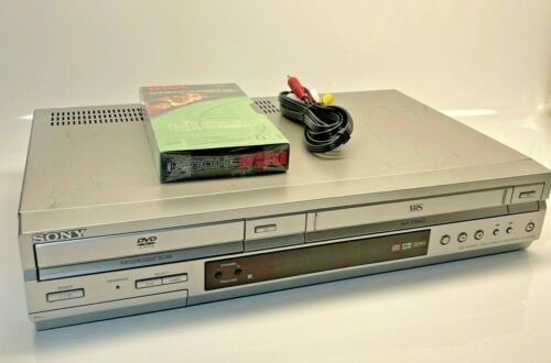 Sony SLV-D350P DVD Recorder/ Player Combo VHS Cassette Recorder/Player silver