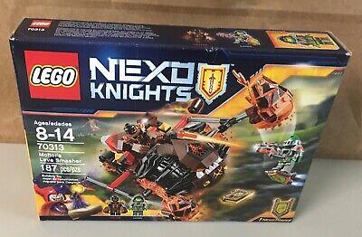 "LEGO NEXO KNIGHTS   70313  MOLTOR'S LAVA SMASHER  AGES 8-14   ""NIB"""