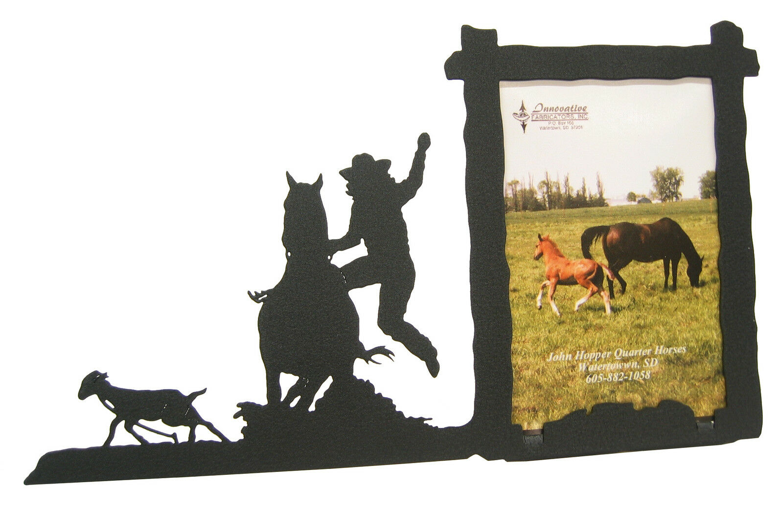 Goat Undressing Tying Roping Rodeo Picture Frame 3.5x5 - 3x5 V