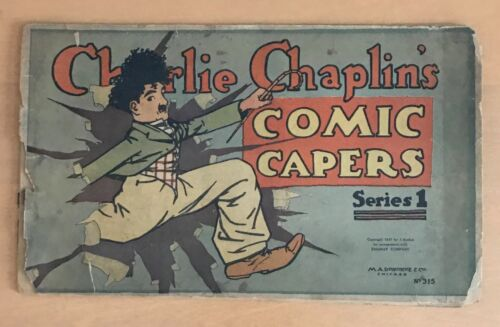 CHARLIE CHAPLIN  COMIC CAPERS  SERIES 1  315  DONOHUE  1917  PLATINUM AGE